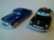 2PCS Mattel Disney Pixar Cars Sheriff & Doc Hudson Toys 1:55 New in Stock Loose
