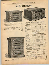 1894 PAPER AD Store Display Sewing Notions HB Enbroidery Crochet Cotton Cabinet
