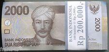 BUNDLE 100 PCS INDONESIA 2000 rupiah rupias 2009 PICK 148a  UNC