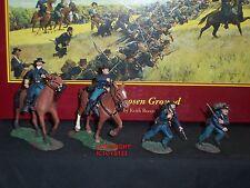 Britains 31074 GUERRA CIVILE AMERICANA terreno scelto comando giocattolo Soldato Figure Set 3