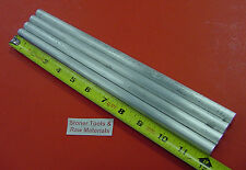 """4 Pieces 1/2"""" ALUMINUM 6061 ROUND ROD 12"""" long Solid T6511 Lathe Bar Stock"""