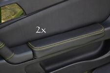 Se adapta a Alfa Romeo Gtv Cuero 2x Puerta Apoyabrazos cubre Amarillo