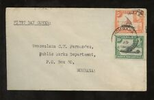 KUT KG6 1949 PICTORIALS 5c + 10c on FIRST DAY COVER...MOMBASA RESTANTE PMK