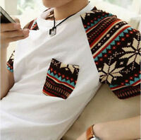 Cheap Korean Fashion Mens Summer  Short Sleeve Boy Round Neck Tshirt  Sal.FN