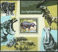 CENTRAL AFRICA 2014 HIPPOTOMAS  SOUVENIR SHEET MINT NH