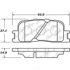 Disc Brake Pad Set Rear Centric 106.08851 fits 01-03 Toyota Highlander