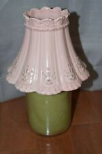 Yankee Candle Pink Scalloped Large/Medium Shade *Candle Not Included*