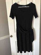 Giordano Ladies, Black, Short Sleeves, Classic Style, Formal Dress, Size 01