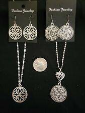 4 Piece Silver Tone Celtic Jewelry Lot stainless steel