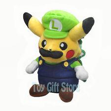 "Luigi Pikachu Cosplay 8"" Poke Plush Doll Stuffed Toy"
