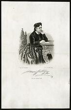 Antique Print-MARIE GEISTINGER-ACTRESS-SOPRANO-Weger-ca. 1865