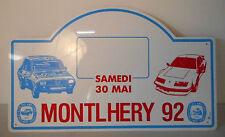 montlhery 92 , targa di plastica 30 maggio 92, club renault, rally plate