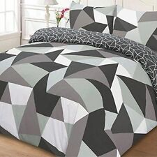 Just Contempo Buttoned Geometric Bedding Sets & Duvet Covers