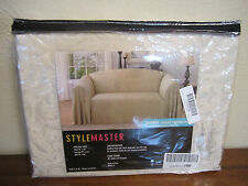 "Stylemaster Brianna Jacquard Furniture Throw, chair 70""x 90"", Ivory"