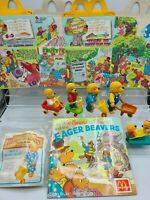 1987 McDonalds Berenstain Bears Toys - plus Happy Meal boxes, extras, storybook