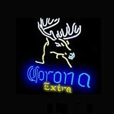 "New Corona Extra Deer Beer Pub Bar Store Real Glass Neon Sign 17""x14"" BE275S"