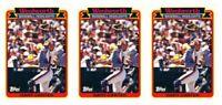(3) 1989 Topps Woolworth Baseball Highlights #10 Gary Carter Lot Mets