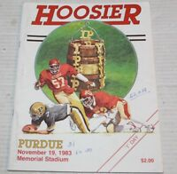 IU Indiana Hoosiers vs Purdue University Football November 19th 1983 Program