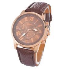 Women's Fashion Geneva Roman Leather Quartz Wrist Watch MT