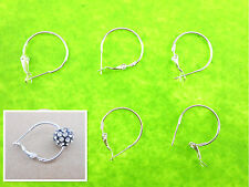 20Pcs 20Mm Making Silver Plate Basketball Wives Beads Circle Hoops Earrings