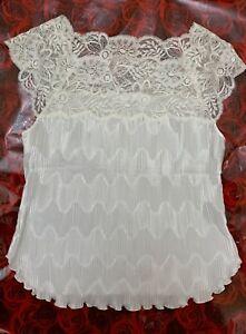 La perla white italy Camisole Top sleepwear nightwear size M us34 it2 eu75