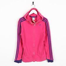 Vintage ADIDAS Small Logo Zip Up Hoodie Sweatshirt Pink Medium M