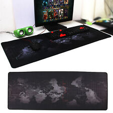 Office World Map Large Cloth Extended Rubber Gaming Mouse Desk Pad Mat 80x30cm