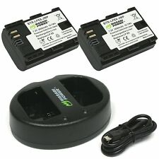 Wasabi Power 2600mAh Battery (2-Pack) for Canon LP-E6, LP-E6N & Dual USB Charger