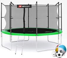 Hop-Sport Trampolin 366cm Gartentrampolin 3,66m Komplettset Leiter Bodenhaken