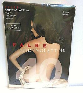 Falke Seidenglatt 40 den  Tights semi-opaque shining M/L brenda brown