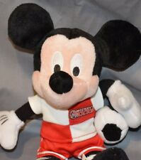 "Walt Disney World Mickey Mouse Soccer Bean Bag Stuffed Animal 9"" Beanie Doll"