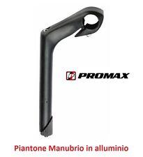 """0070 Piega/Piantone Manubrio """"Promax"""" Alluminio Nero per bici 24-26-28 City Bike"""