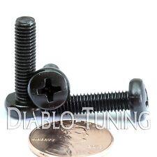 M5 x 20mm - Qty 10 - Phillips Pan Head Machine Screws - DIN 7985 A - Black Steel