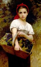 Adolphe Bouguereau Grape Picker Fine Art Poster Print on Paper Home Decoration