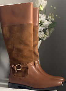 RALPH LAUREN LEATHER & SUEDE TAN LONG BOOTS BRAND NEW SIZE 8 ❤️