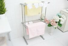 2 Tiers Interior Mini Clothes Horse Dryer Hanger Airer Stainless Laundry Rack