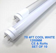 10 x T8 LED LIGHT STRIPS COOL WHITE 4FT 1200mm G13 LIGHT TUBE 16W FROSTED