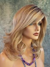 Curve Appeal Lace Front Mono Part Heat Friendly Wig SHADED BISCUIT ROOTED BLOND