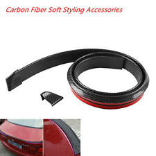 Universal Carbon Fiber Soft Styling  Car Rear Roof Trunk Spoiler Wing Lip Trim