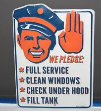 FULL SERVICE SIGNS Metal Embossed Gas Pump Service Station Man Cave Decor texaco
