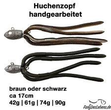 Huchenzopf handgearbeitet, Neunaugen -Imitation, Huchen, Hucho, Köder, Lachs