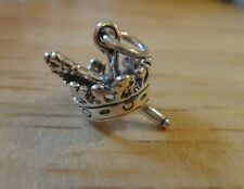 New Sterling Silver 17mm Crown & Septor Charm Princess or Queen