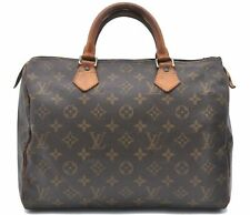 Authentic Louis Vuitton Monogram Speedy 30 Hand Bag M41526 LV A4184