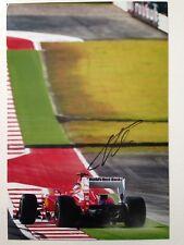Fernando Alonso Mano Firmado Autógrafo Firma Color Foto de Ferrari 20x30cm