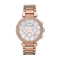 Orologio Michael Kors da donna Collezione Parker MK5491 Acciaio oro rosa