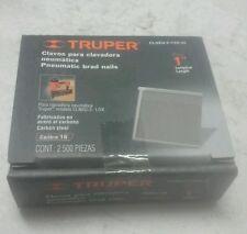 "Truper Clneu-2-1/2x-25 Pneumatic Brad Nails 1"" Gauge 16 (2,500 pz)"