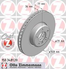 BMW E60/E61 5 SERIES PAIR OF ZIMMERMANN FRONT BRAKE DISCS (34116779467)