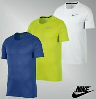 Mens Genuine Nike Short Sleeves Dri Fit Crew Mesh Run Breathe T Shirt Size S-XXL