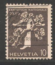 Switzerland #265 (A75) VF USED - 1939 10c Tree and Crossbow - Italian