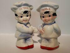 Vintage Tappan Chefs Salt Pepper Shaker Set Made In Japan Advertising